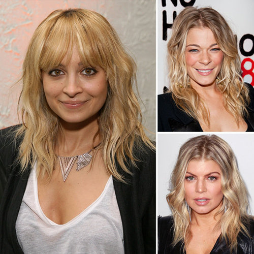 Tousled, Matte Waves Hair Trend As Seen On Nicole Richie, LeAnn Rimes and Fergie