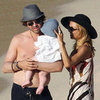 Rachel Zoe &amp; Shirtless Rodger Pictures With Skyler on Beach