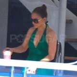 Jennifer Lopez on a yacht.