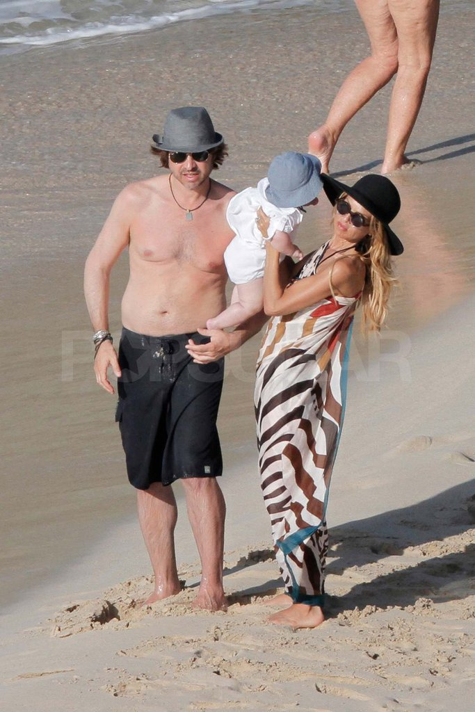 Rachel Zoe and Rodger Berman with Skyler in St. Barts.