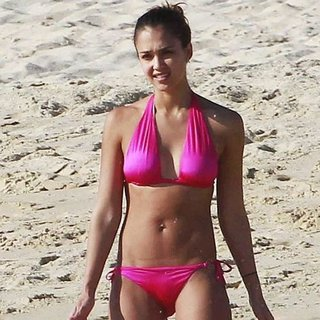 Jessica Alba, Rosie Huntington- Whiteley, and Elle Macpherson in Bikinis Over New Years!