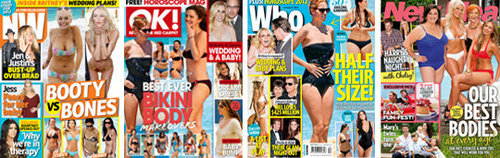 NW, Who, New Idea and OK! Magazine All Zone in on Bikini Bodies for 2012: Which Will You Choose?