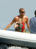 Brooklyn Beckham was along for a shirtless ride along the French Riviera in July 2004.