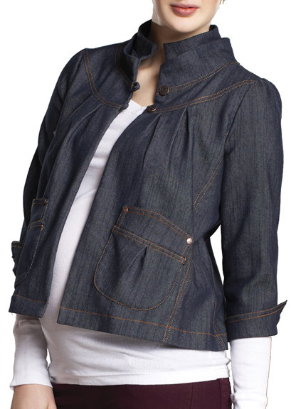 Maternal America Denim Maternity Jacket ($146)