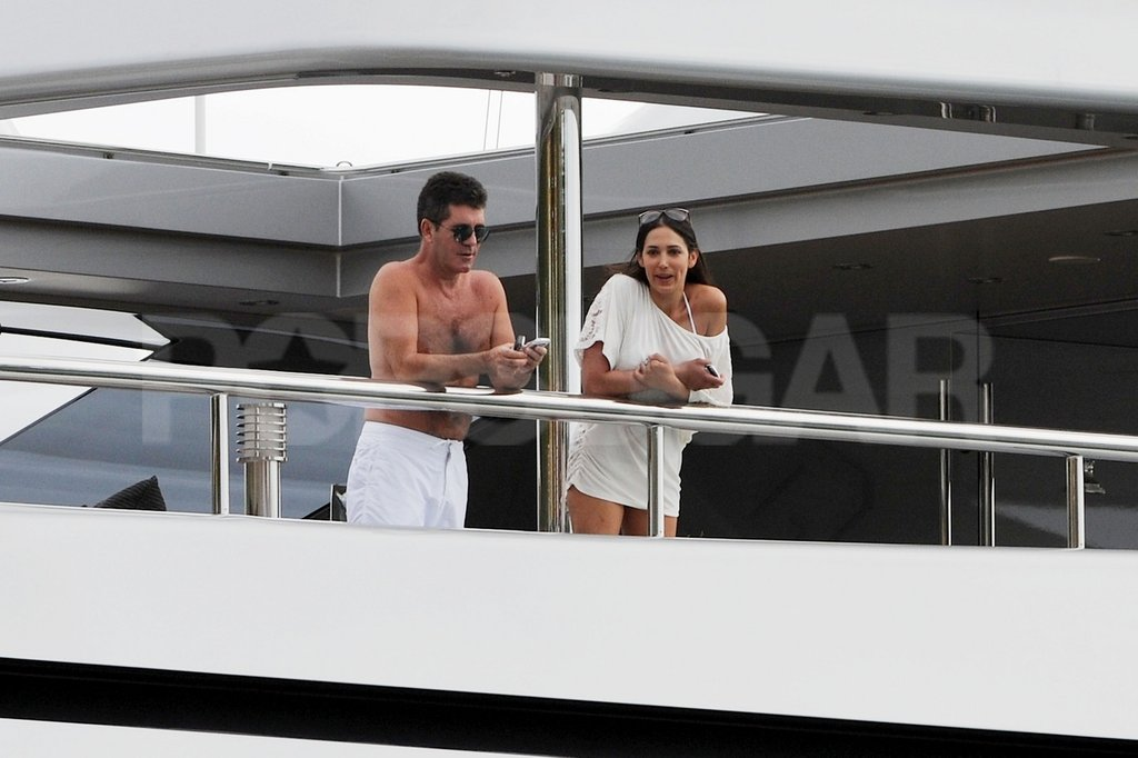 Simon Cowell and Mezhgan Hussainy hung out in St. Barts.