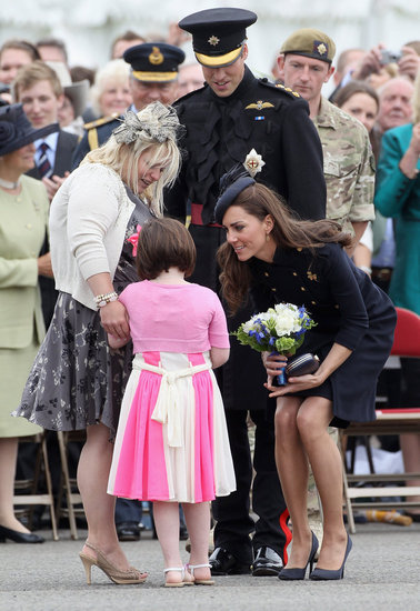 In June 2011, Kate Middleton and Prince William were the guests of honor at the Windsor Irish Guards Medal Parade.