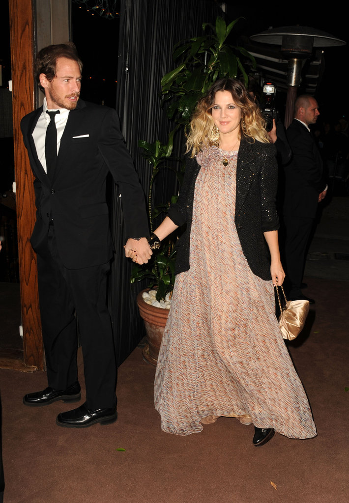 Will accompanied Drew to the Chanel and Charles Finch Pre-Oscar dinner at LA's Madeo restaurant in February 2011.