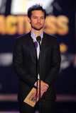 Tobey Maguire presented an award onstage in 2010.