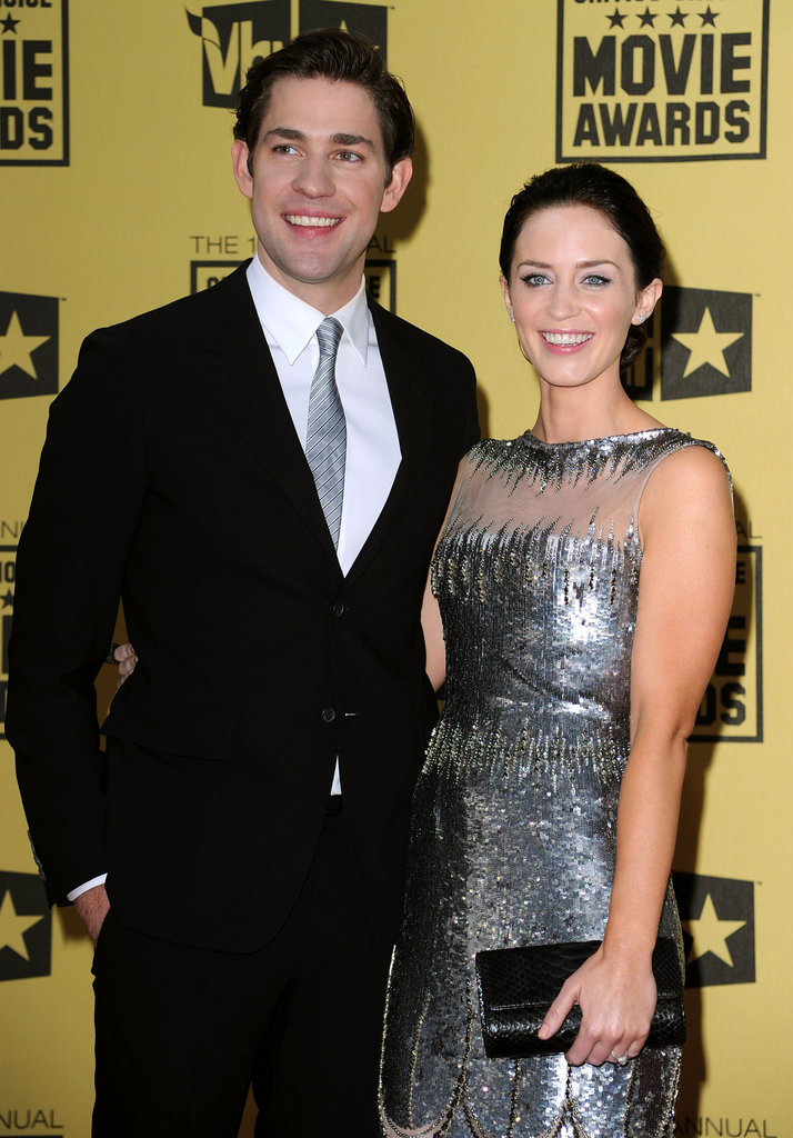 John Krasinski and Emily Blunt were all smiles on the red carpet in 2010.