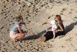 Julianne Hough with Rachel Zoe and Skyler on the beach.