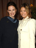 Jennifer Garner and Jessica Biel were backstage together in 2007.