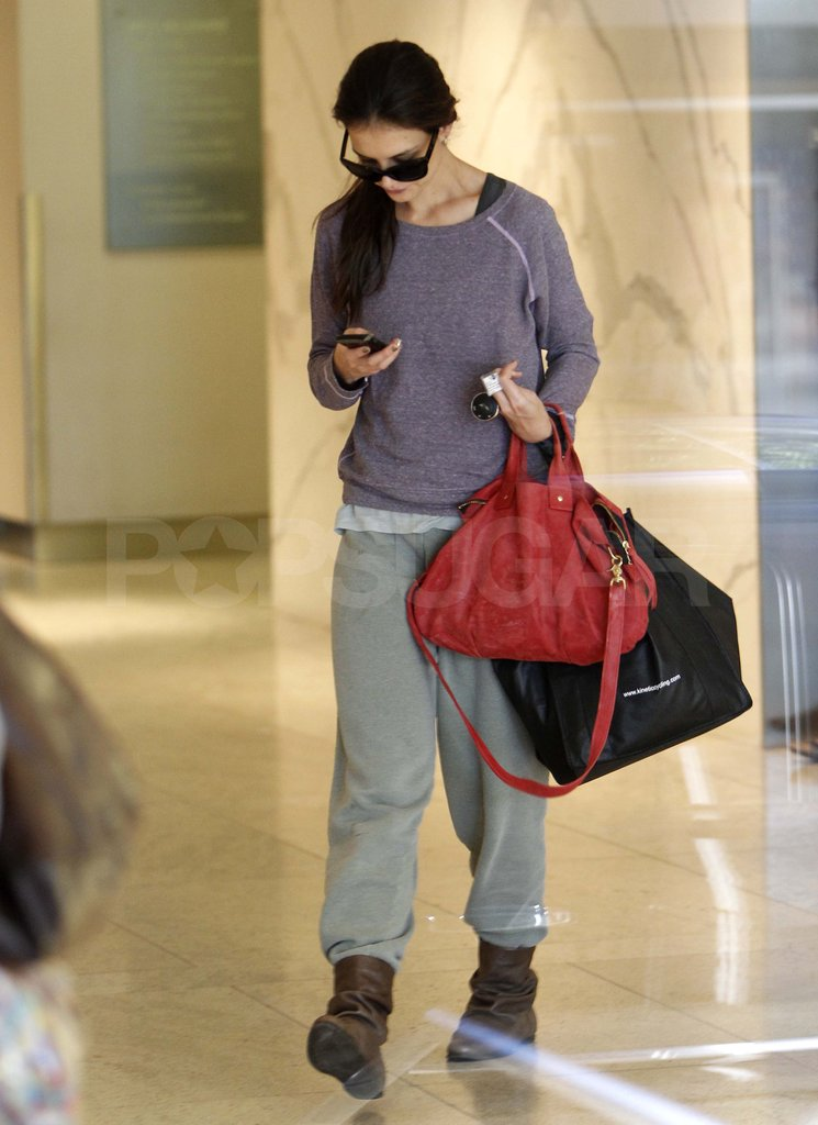 Katie Holmes at a gym in LA.