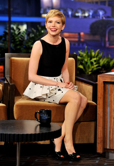 Michelle Williams Tells Jay Leno She Didn't Use Her Marilyn Impression to Get Dates