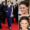 Emily Deschanel at Golden Globes 2012