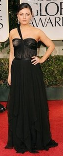 Designer of Mila Kunis's Dress and Jewelry at Golden Globes