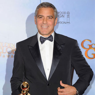 George Clooney Golden Globes Press Room 2012
