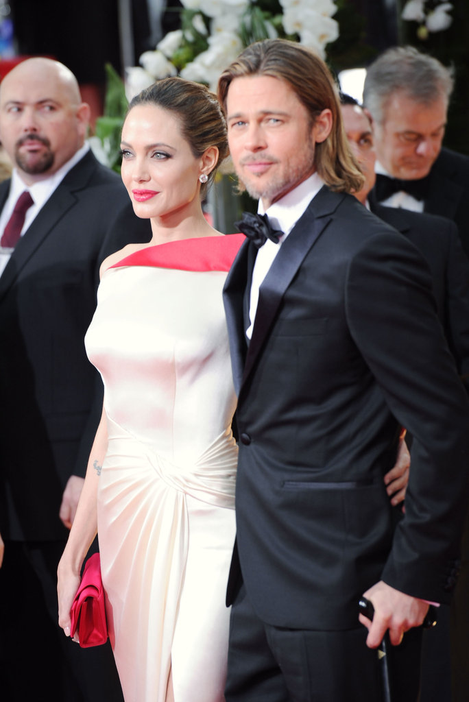 Brad Pitt and Angelina Jolie at an awards show in LA.
