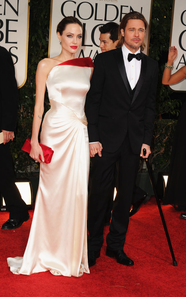 Brad Pitt and Angelina Jolie hit the red carpet.