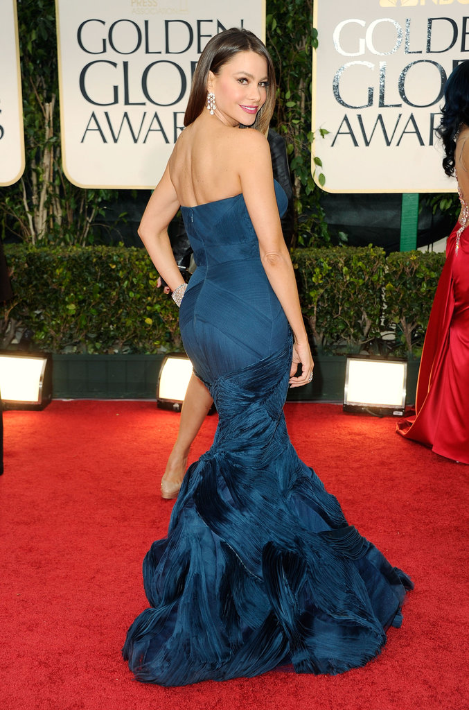 Sofia Vergara Gets Glamorous in Vera Wang at the Globes