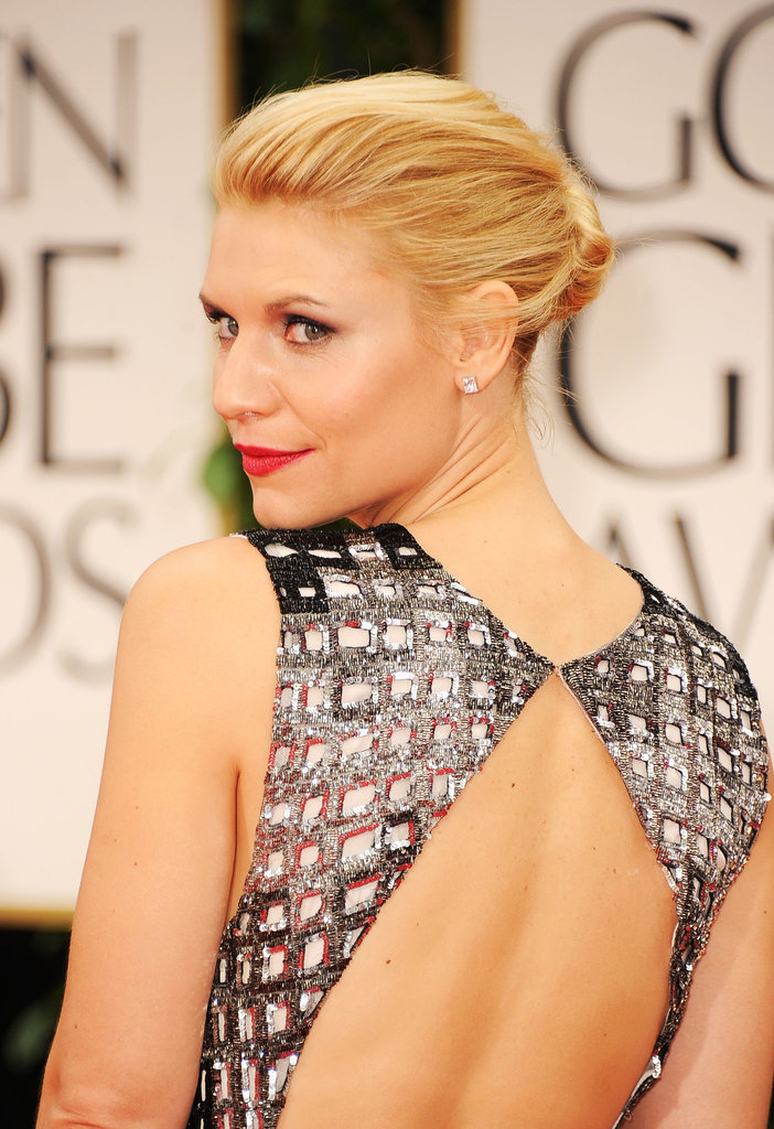 Claire Danes Goes Black, White, and Sexy at the Golden Globes