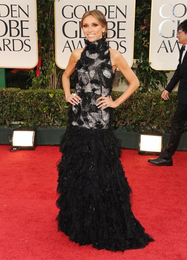 Giuliana Rancic at the Golden Globes.