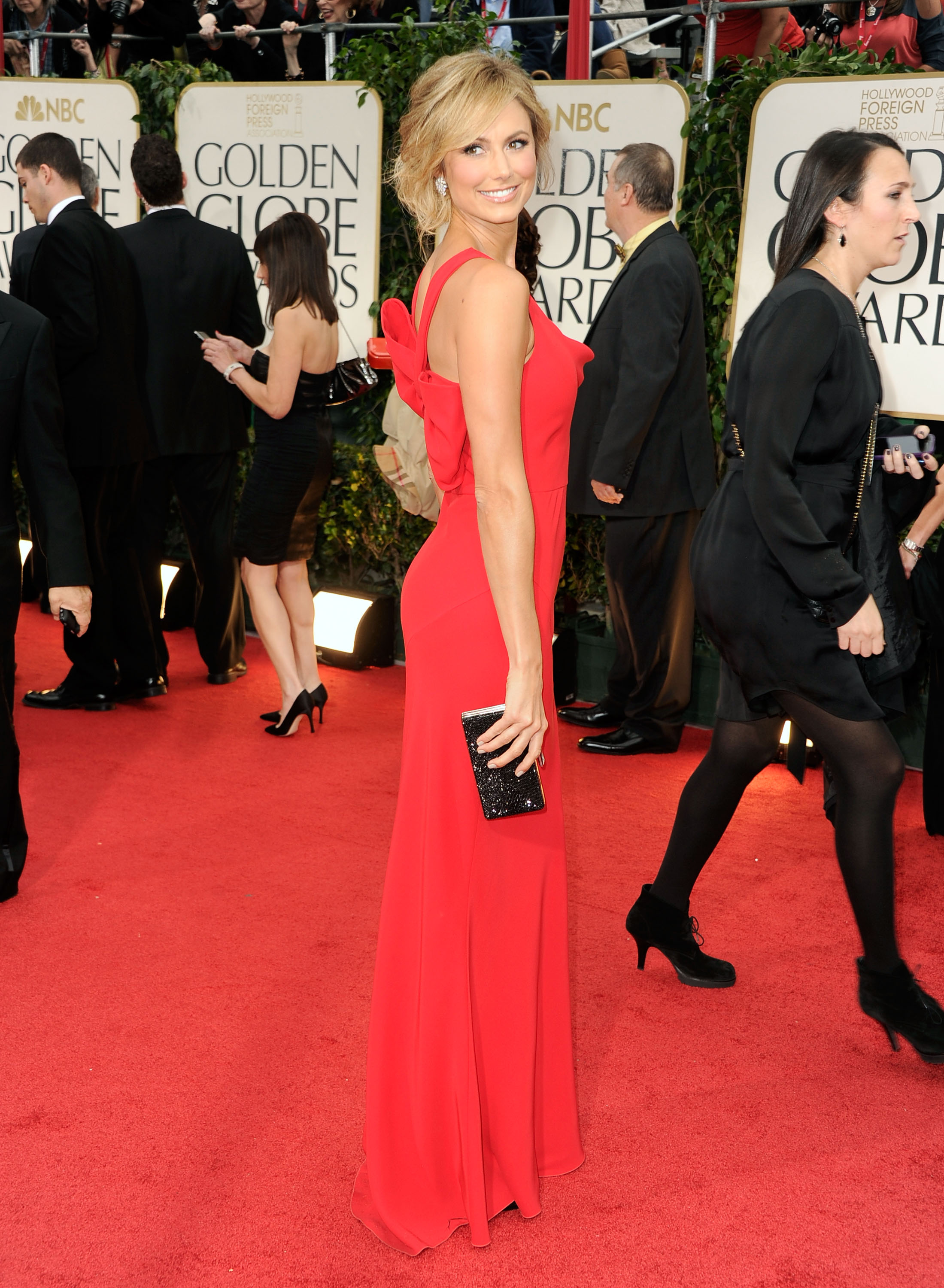 Stacy Keibler at the Golden Globes.