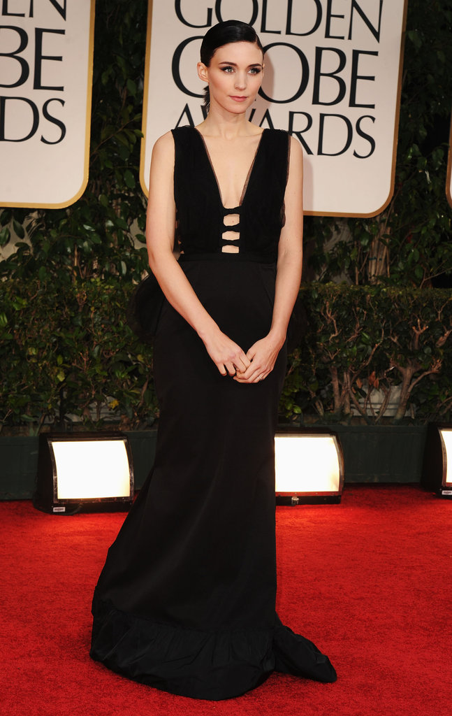Rooney Mara arrived for the the 2012 Golden Globe Awards.