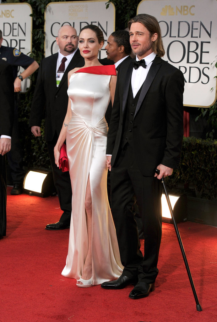 Brad Pitt and Angelina Jolie at the Golden Globe Awards.