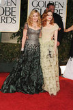 Madonna and Andrea Riseborough at the Golden Globes.