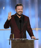 Ricky Gervais hosted the 2012 Golden Globe Awards.