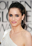 Amanda Peet at the Golden Globes.