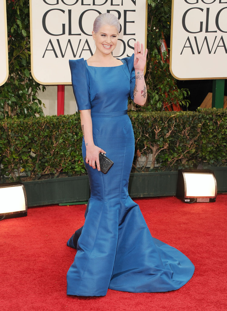 Kelly Osbourne at the Golden Globes.