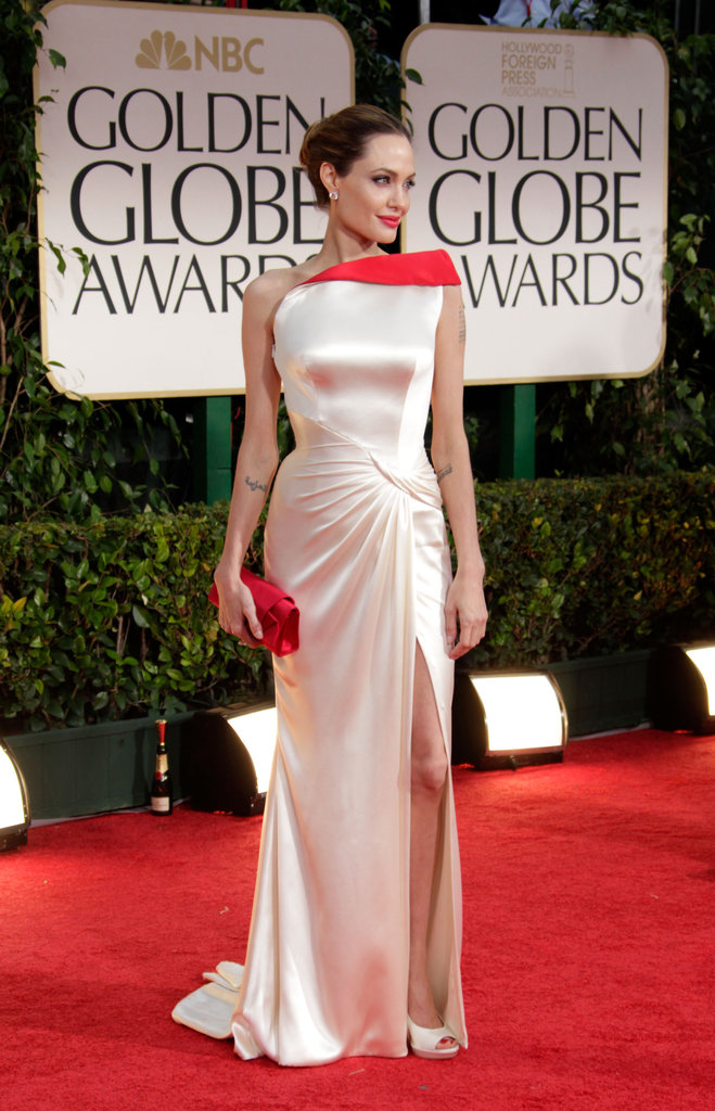 Angelina Jolie in Versace.