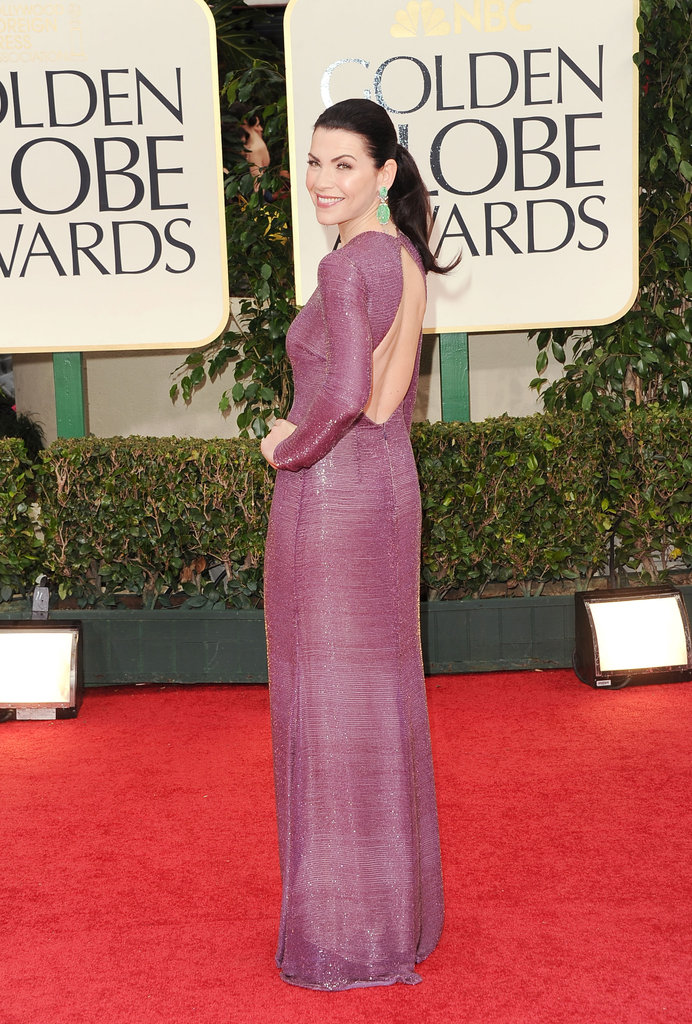 Julianna Margulies at the Golden Globes.