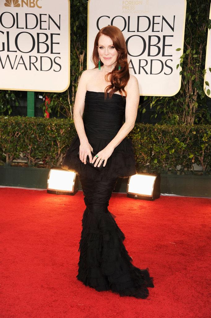 Julianna Moore at the Golden Globes.