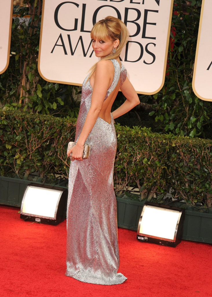 Nicole Richie wore a floor-length gown to the 2012 Golden Globes.