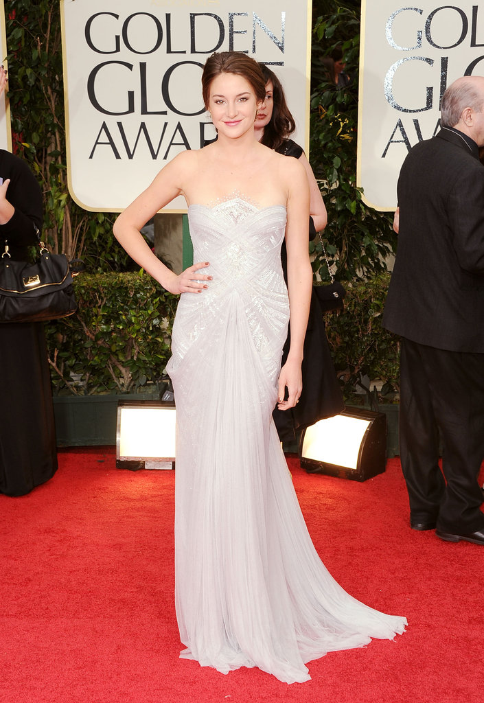 Shailene Woodley at the Golden Globes.