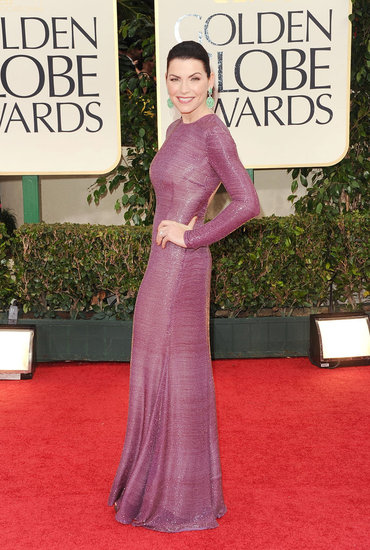 Julianna Margulies Picks Purple For the Golden Globes Red Carpet