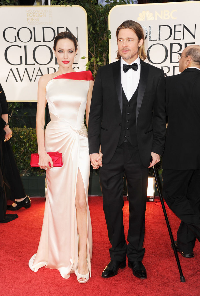 Angelina Jolie and Brad Pitt were a united front at the 2012 Golden Globes.