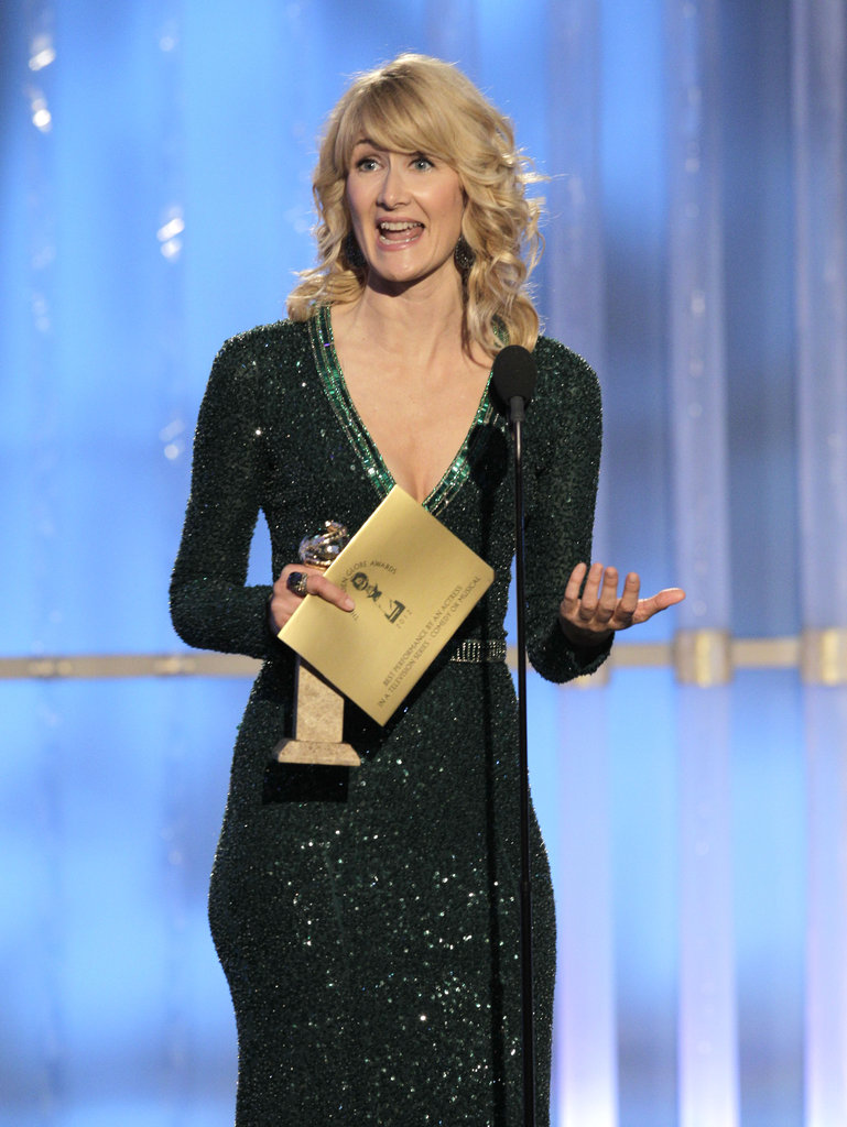 Laura Dern smiled while accepting her award.