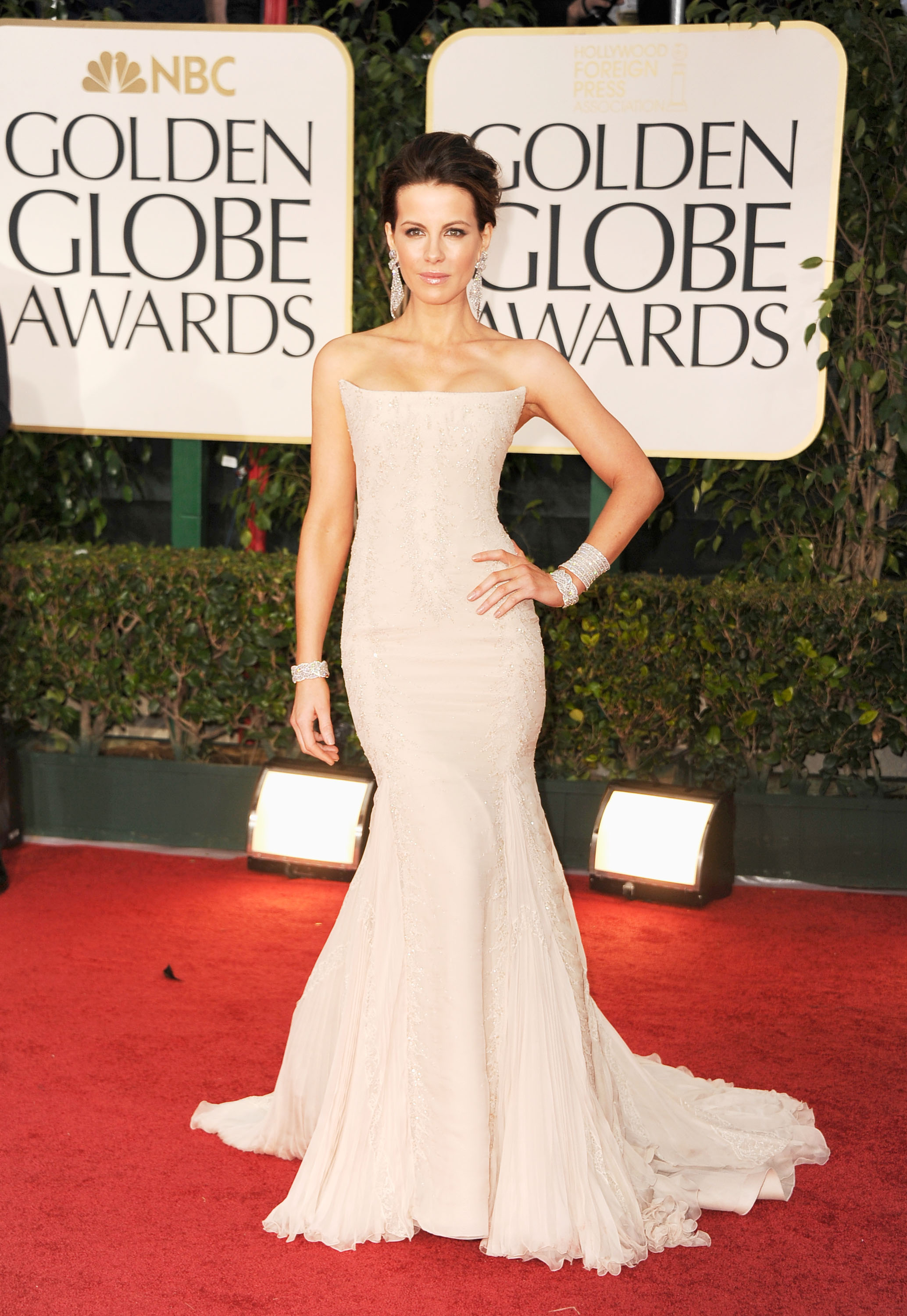 Kate Beckinsale wearing Roberto Cavalli.