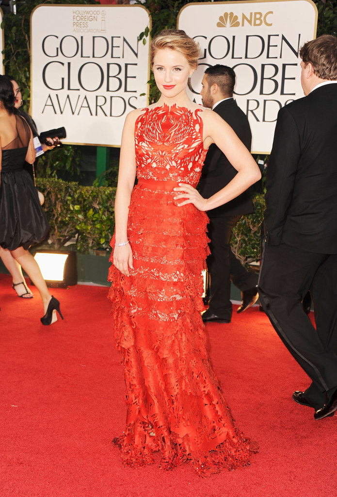 Dianna Agron at the Golden Globes.
