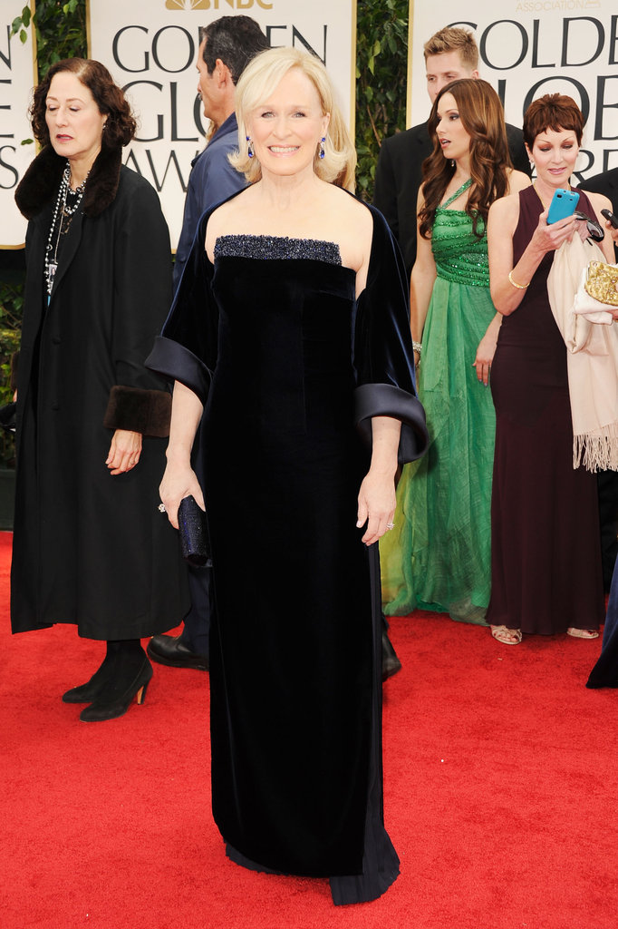 Glenn Close at the Golden Globes.