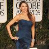 Sofia Vergara Vera Wang Dress Pictures at Golden Globes 2012