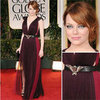 Pictures of Emma Stone Wearing Lanvin at the 2012 Golden Globes