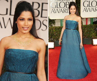 Freida Pinto at Golden Globes 2012