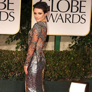 Lea Michele at Golden Globes 2012