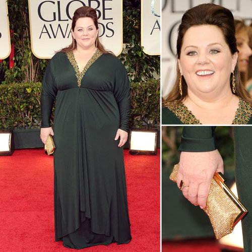 Melissa McCarthy at Golden Globes 2012