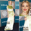 Jaime King Chose Green Velvet Valentino For The InStyle Golden Globes After Party