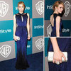 Emma Roberts at InStyle Golden Globes Afterparty 2012